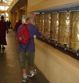 Prayer Wheels in Namgyal Monastery