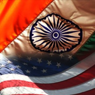 US India Flags