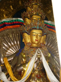 Avalokiteshwara in Dalai Lama Temple