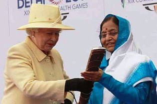 Queen with President of India