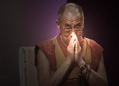 Dalai Lama in prayer