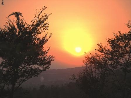 Early Trek at Dawn from Vidya Niwas