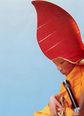 The boy Karmapa at Tsurphu monastery