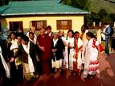 Granny visit Nechung Monastery