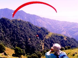 Para Gliding  Green Dharamsala
