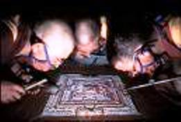 monks making mandala