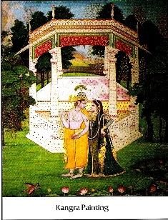 Krishna Radha, Kangra Miniatures