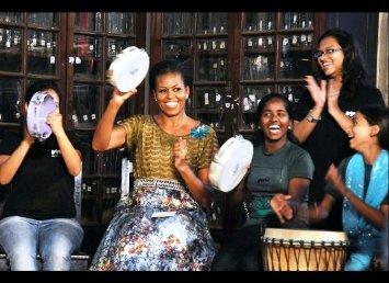 Michelle Obama, India Tour