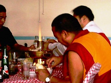Dharamshala Monks Dining