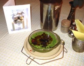 Spinach-Yoghurt of Vidya Niwas, Dharamsala