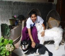 Shruti and Vidya Niwas Dogs