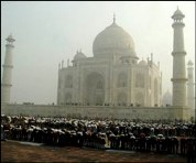 Taj Mahal Eid Prayers
