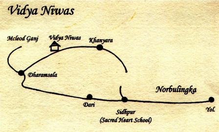 Vidya Niwas Map