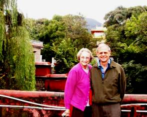John & Nancy at  Norbulingka, Dharamsala