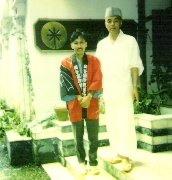 Arvind with Japanese priest in Dharamsala