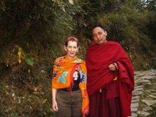 Monk Volunteering in Dharamsala