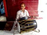 Village Temple drummer in Dharamsala