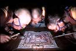 monks making mandala