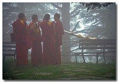 Dalai Lama Monastery and monks