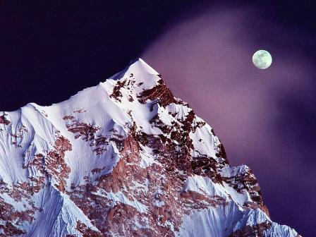 Himalayas and Moon